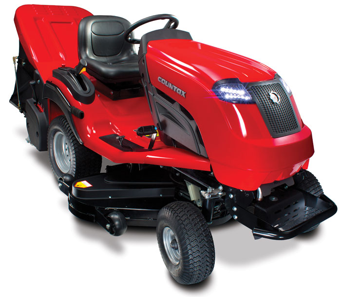 Countax c60 tractor and sweeper